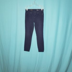 J. Crew Toothpick Navy Skinny Corduroy Ankle pa-nt
